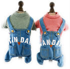 Dog Jumpsuit Autumn Denim STANARD Pet Overalls Cat Outfit for Small Dog Clothes
