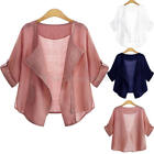 PLUS SIZE Womens Casual Loose Cardigans Jackets Coat Blouse T-Shirt Tops Outwear