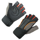 Weight Training Gloves Fitness Exercise Workout Body Building Gym Lifting Orange