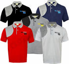 Mens Quilted Short Sleeve Plain Polo Shirt T shirt Top Casual Cotton Mix