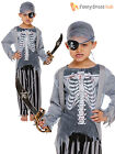 Childrens Zombie Pirate Costume Boys Girls Halloween Fancy Dress Kids Outfit