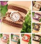 Bracelet Wrist Watch Girls Ladies various colors leather long strap analog chain