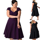 Womens Short Sleeve Ladies Evening Party Cocktail Summer Beach Dress Plus Size