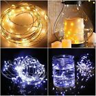 10 100 200 300 500 1000 LED Indoor Bedroom String Fairy Lights Clear Cable Party