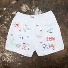 NEW Mens 83990 Tenue De Plage White Print Summer Swim Shorts GENUINE RRP: £145