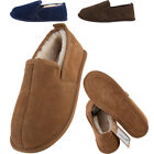 Lambland Mens Genuine Sheepskin Bootie Slippers with Hard Suede Sole