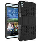 Armor Shockproof Rugged Hybrid Rubber Stand Hard Back Case Cover For HTC Models