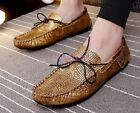 Mens Moccasin-gommino Slip On Loafers Driving Leisure Crack Croco Shoes Fashion