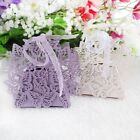 20/50/100 Hollowed Butterfly Ribbon Candy Box Wedding Xmas Party Favour Gift Bag