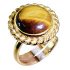 fine Tiger eye Copper Brown Ring wholesale L-1in US 5,6,7,8