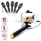 Monopod Selfie Stick Telescopic No Bluetooth Wired Remote Mobile Phone Holder