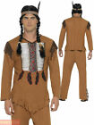 Mens Native American Warrior Red Indian Costume Adult Fancy Dress Cowboy Western