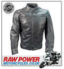 Richa Cafe Leather Motorcycle Motorbike Jacket - Black