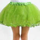Lime Green with Sequined Edges TUTU SKIRT GIRLS Dance Birthday Party Costume