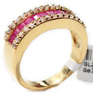 Gold Filled Genuine Bar Setting 1.45ct Ruby Ring.