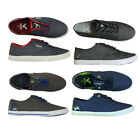 MENS NEW VOI  PLIMSOLLS CANVAS SHOES FOOTWEAR IN BLACK BLUE GREY TEAL COLOURS