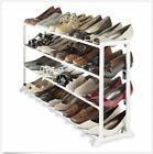 Shoe Racks For Entryway Wide 20 Pair Footwear Shelf Stand Closet Organizer Resin