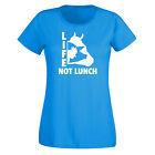Ladies Life Not Lunch Vegan Tshirt Veggie T shirt - Vegans No Meat Diet Food