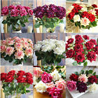 DIY Single Artificial Rose Velvet Fake Flower Home Room Party Wedding Decor.