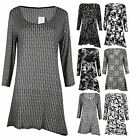 New Ladies Women's Casual Evening Dress Top Shirt Loose Top Wear UK 12-26