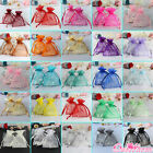 "100pcs Strong Organza Pouch 3.5x4.7"" 9x12cm Wedding Favor Gift Candy Bag Colors"