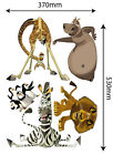 Madagascar Reusable Wall Sticker Decal Set Easy Reuse Remove