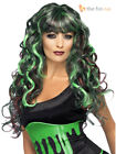 Ladies Vampire Witch Wig Halloween Fancy Dress Costume Accessory Long Wavy Fring