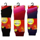 LADIES WOMENS REDTAG 3 PAIRS THERMAL HEAT SOCKS THICK WINTER TOG 1.2 GIFT