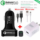 [Quick Charge 3.0] Qualcomm Certified High Rapid USB Wall & Car Charger Adapter