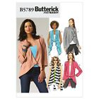 Butterick 5789 Easy Waistcoat Jacket Top XS to Plus Size Sewing Pattern B5789