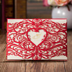 Wedding Invitation Card Personalised Red Laser Cut Kit, Free Envelopes, Stickers