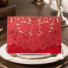 Red Laser Cut  Wedding Invitation Card, Envelopes, Sticker, Personlized Printing