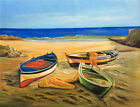 AUS Stock - Original Oil Painting - Rolling Boat 1200x900 - Unframed Or Canvas