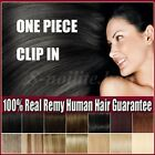 Best Weft One Piece Clip In Remy Human Hair Extension 3/4 Full Head UK SALE Y142