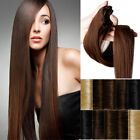 100% Real Clip In REMY Human Hair Extensions Black Brown Blonde Full Head H992