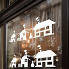 Christmas Xmas House Scene Decoration Display Shop Window Decals Stickers A291