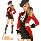 Adult Rebel Pirate Lady Wench Costume Military Dress Ladies Fancy Dress Outfit