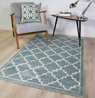Modern Trellis Geometric Berber Fish Net Pattern Soft Living Room Area Floor Rug