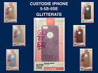 CUSTODIA COVER APPLE IPHONE 5 5S 5SE GLITTER COLORATE SLIM CASE GOMMA MORBIDA
