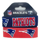 NFL New Englnd Patriots Rubber Silicon Bracelet Wristband 2-Pack