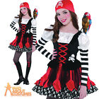 Child Crossbone Cutie Pirate Costume Girls Fancy Dress Halloween Outfit Ages 3-8