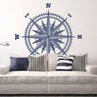 Compass Rose Vinyl Wall or Ceiling Decal - fits nautical bedroom + more K652