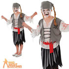 Child Zombie Pirate Girl Costume Halloween Horror Fancy Dress Outfit New