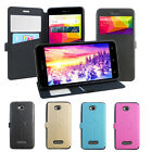 4 Colors Windows PU Stander Card Solt Pu Cover Case For BLU Studio 5.5 HD