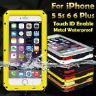 Luxury Waterproof Aluminum Metal Case Cover with Touch ID for iPhone 5s SE 6 6s