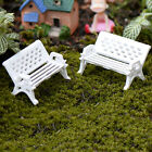 1/5Pcs Garden Ornament Miniature Park Seat Bench Craft Fairy Dollhouse Decors