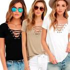 Womens Casual Blouse Pure olor Short Sleeve Tops T Shirt Summer Basic Tees