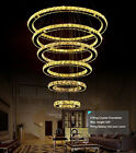 6 Rings Modern Contemporary Crystal Chandeliers Galaxy Pendant Ceiling Lighting
