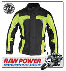 Richa LADIES Bolt Motorcycle Motorbike Jacket - Black/Fluo