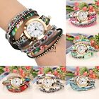 6 Colors Women Multi-Strap Bracelet Watch Round Dial Quartz Wrap Wristwatch TXSU